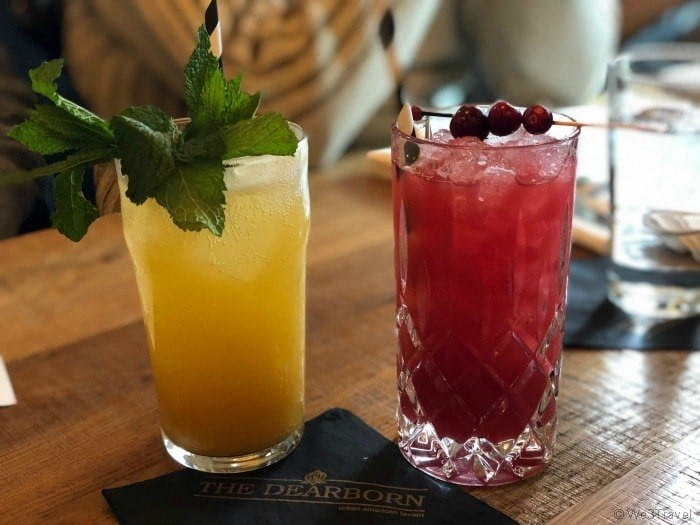 The Dearborn drinks at brunch