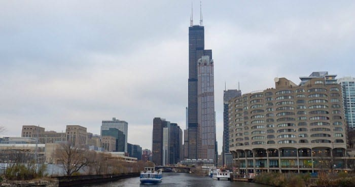Chicago river cruise Willis Tower