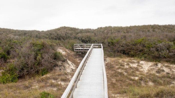 South Dunes beach park boardwalk