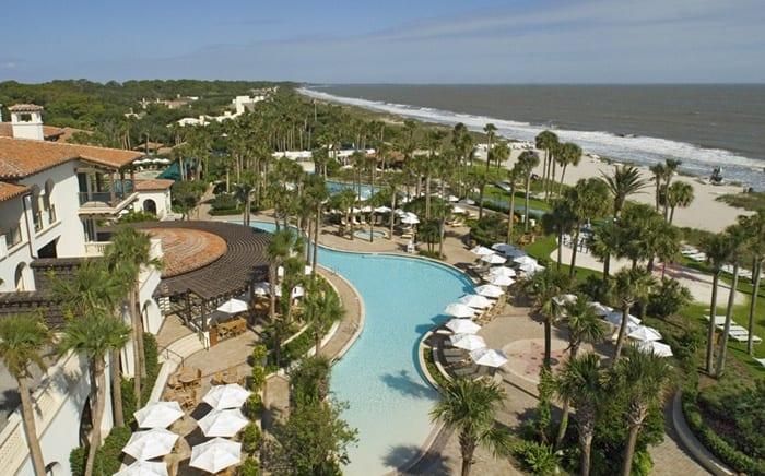 Sea Island beach club pools