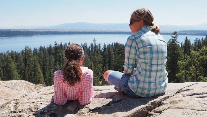 Overlooking Jenny Lake in Grand Teton national park