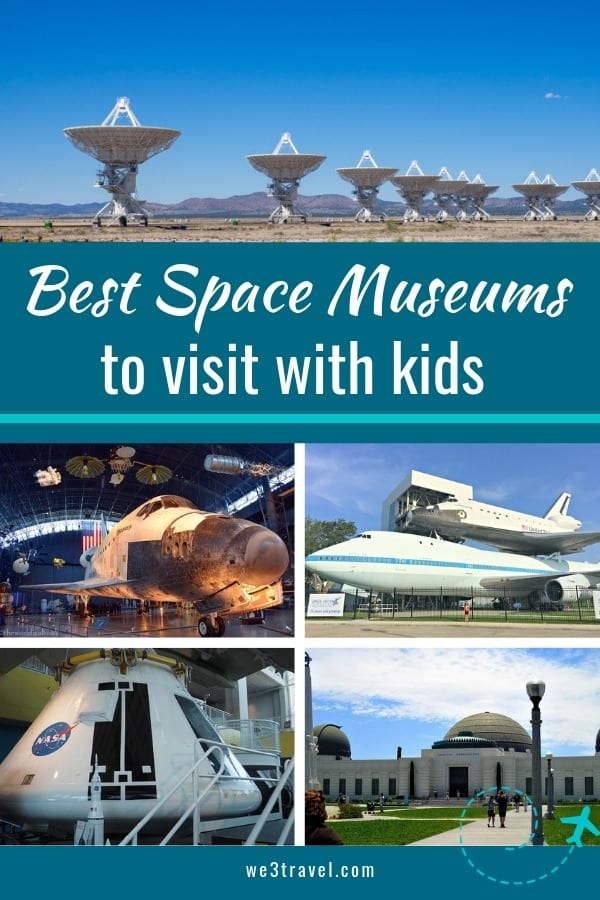 Best space museums and space centers in the United States to visit with kids and space geeks of all ages. #space #spacecenter #familytravel
