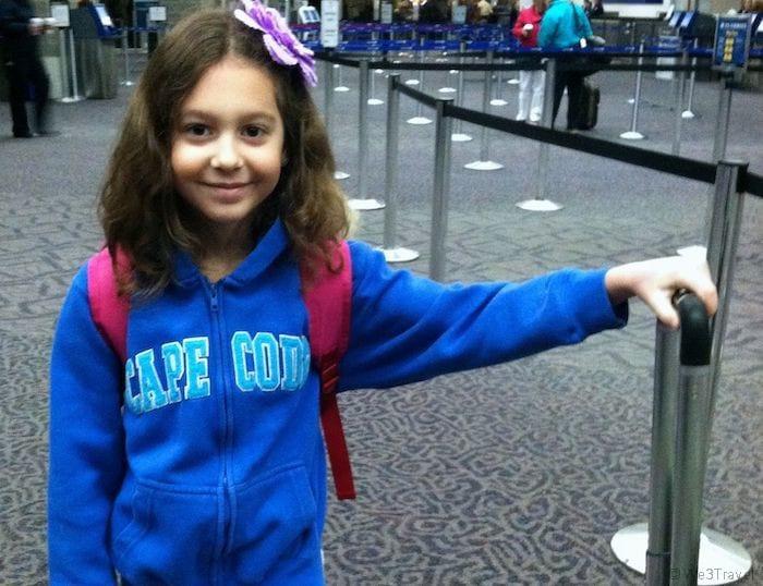 Hannah at airport
