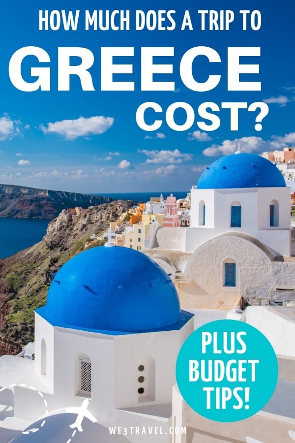 Build your Greece travel budget including visiting Athens and the Greek Islands of Santorini, Mykonos, and Crete, along with tips on how to save money. #greece #budgettravel #athens #mykonos #santorini