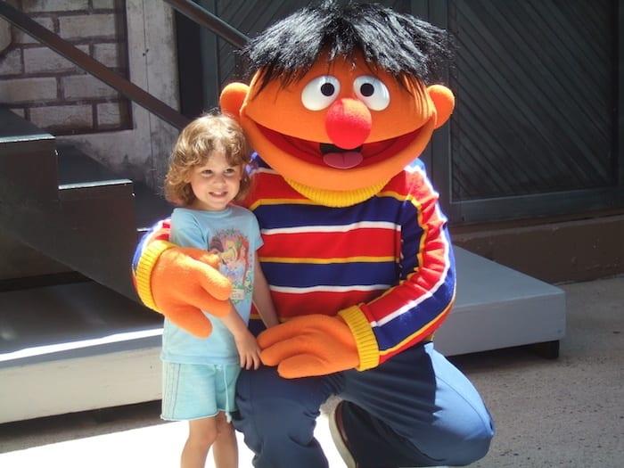 Ernie at Sesame Place