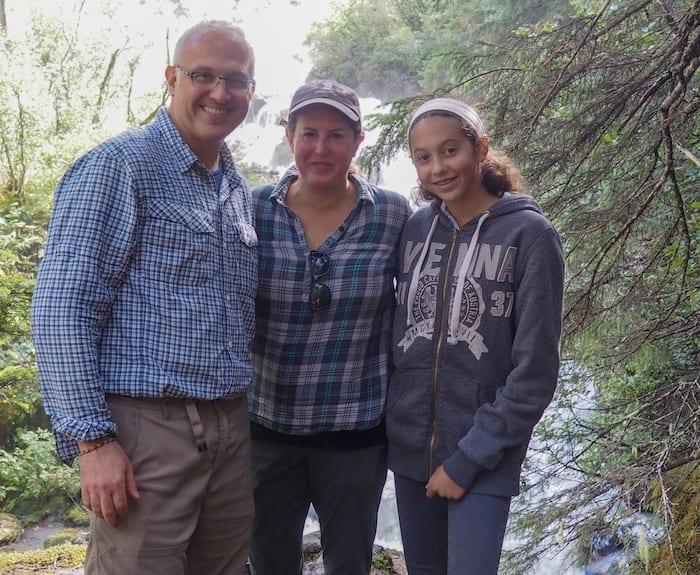 family hiking in Alaska