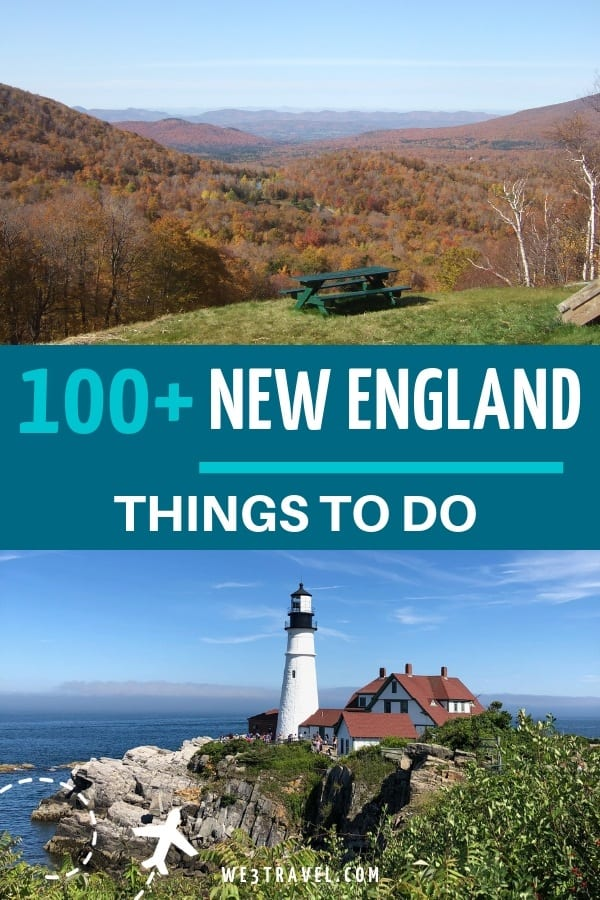 110 things to do in New England with kids. Get out and explore  Connecticut, Rhode Island, Massachusetts, Vermont, New Hampshire, and Maine. #newengland #familytravel