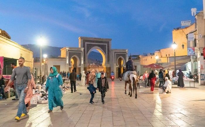 Fes medina at night