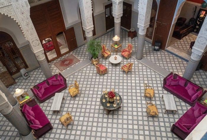 Riad Fes lobby