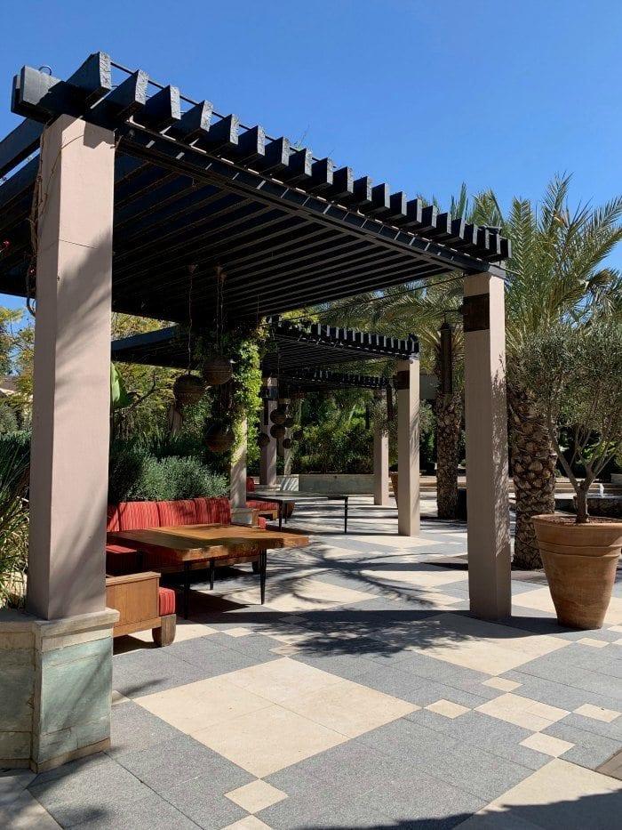 Four Seasons Marrakech patio