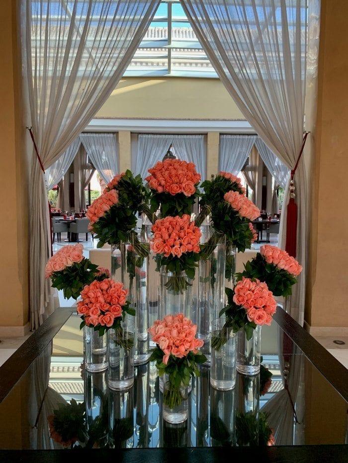 Four Seasons Marrakech roses display