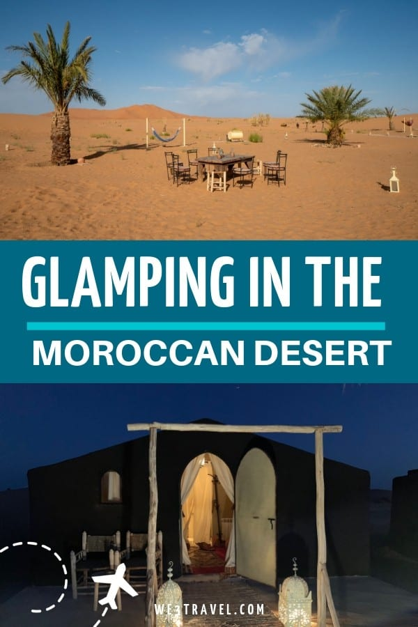 Glamping in a luxury desert camp in Morocco #morocco #glamping #moroccotravel