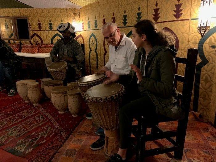 Glenn and Hannah drumming