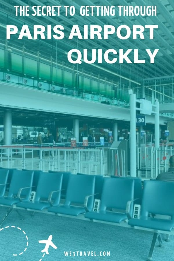 Don't miss your connection because of long lines and a short layover at Charles de Gaulle airport in Paris! Find out about the VIP concierge service that will get you through the airport quickly so you don't miss your flight. #paris #airtravel #traveltips