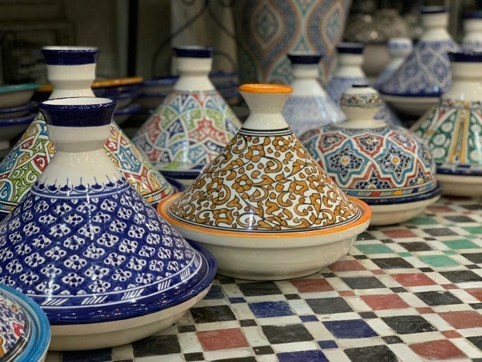 Tagines in the pottery quarter of Fes