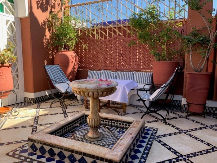 Riad Kaiss private rooftop terrace