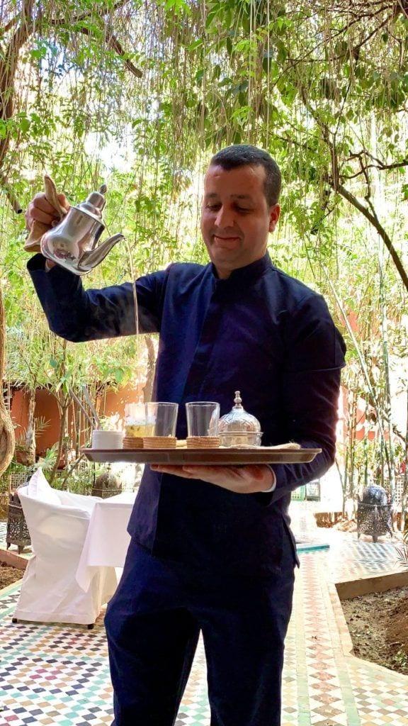 Riad Kaiss welcome tea