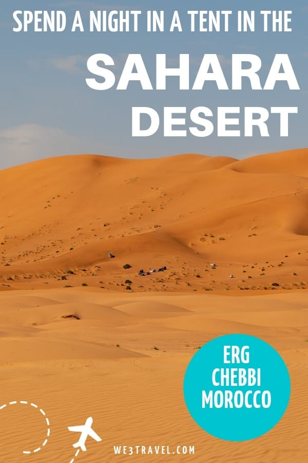 Make your Arabian nights fantasy come true with an overnight stay at a Morocco desert camp. #sahara #desertcamp #morocco