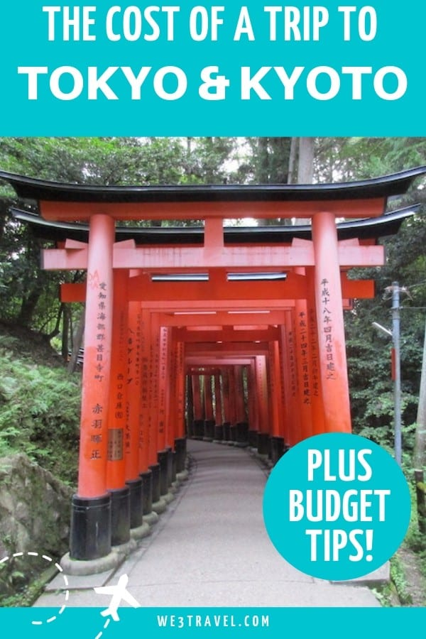 If you are planning to travel to Japan and visit Kyoto and Tokyo, make sure you know what it will cost before you book your trip with this budget breakdown. #japan #tokyo #kyoto #budgettravel