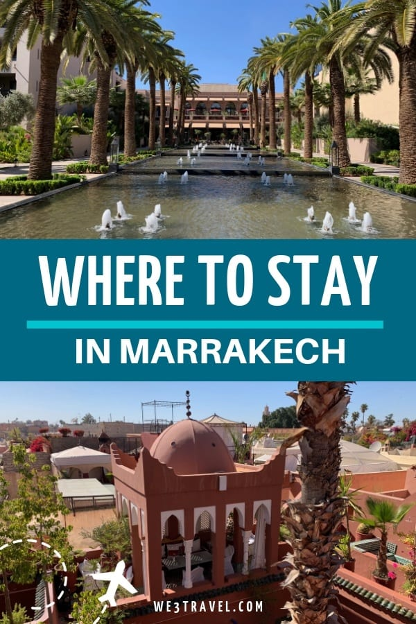 Where to stay in Marrakech -- resort hotel or a riad? Find out the pros and cons and recommendations for travel to Marrakech Morocco. #marrakech #morocco