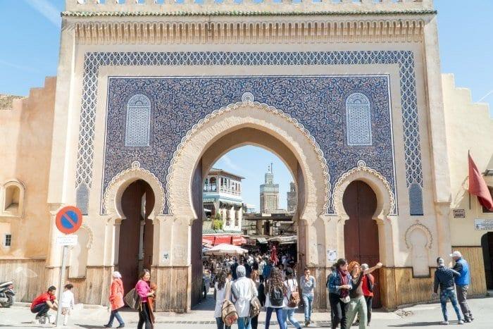 Blue Gate of the Fes Medina