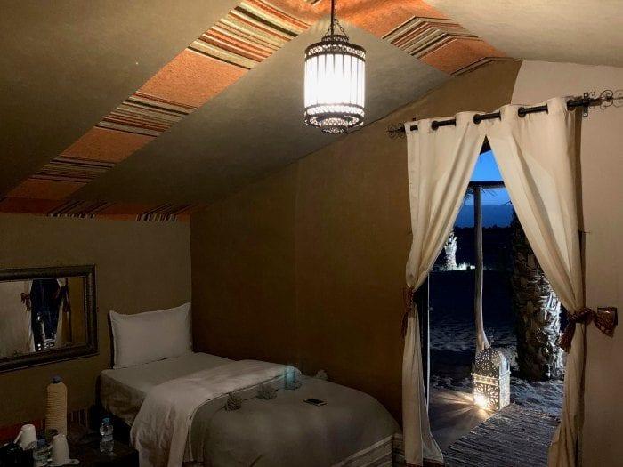 luxury desert tent inside