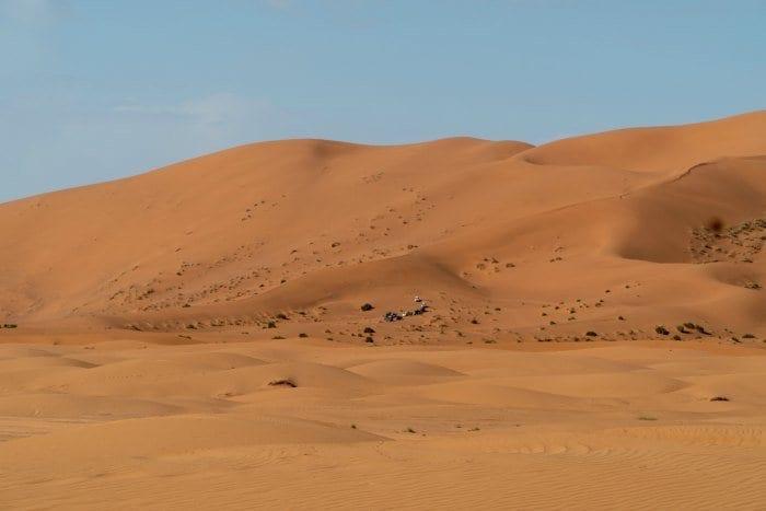 cars on dunes in Sahara