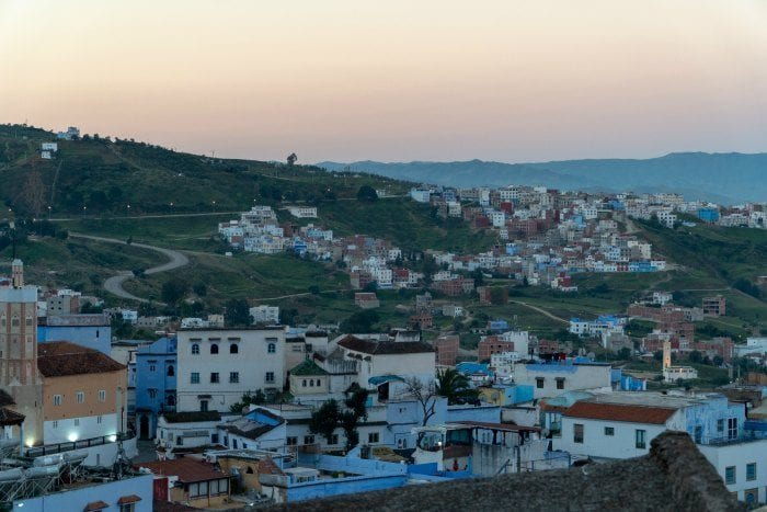 Chefchaouen at sunrise