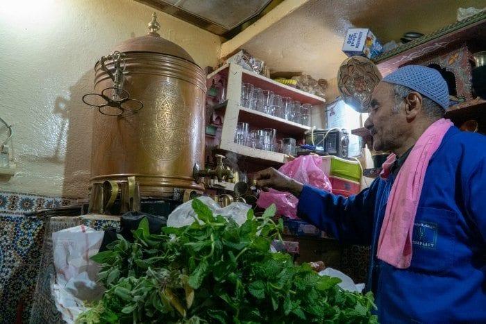 mint tea shop in Fes