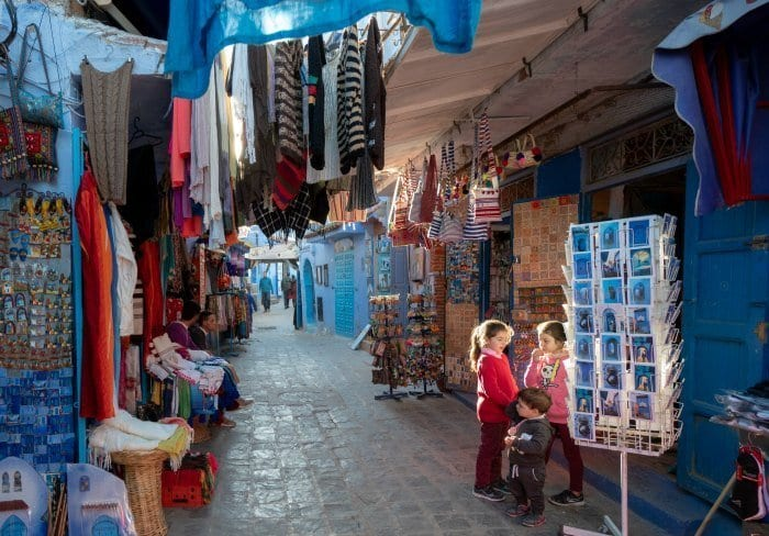 Girls in the souk