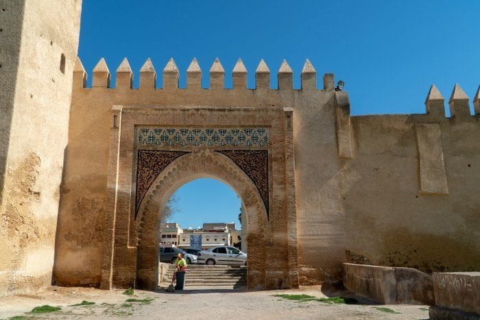 gate to Jewish quarter in Fes