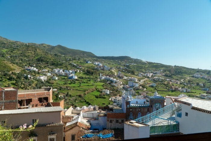 View from the Chefchaouen kasbah