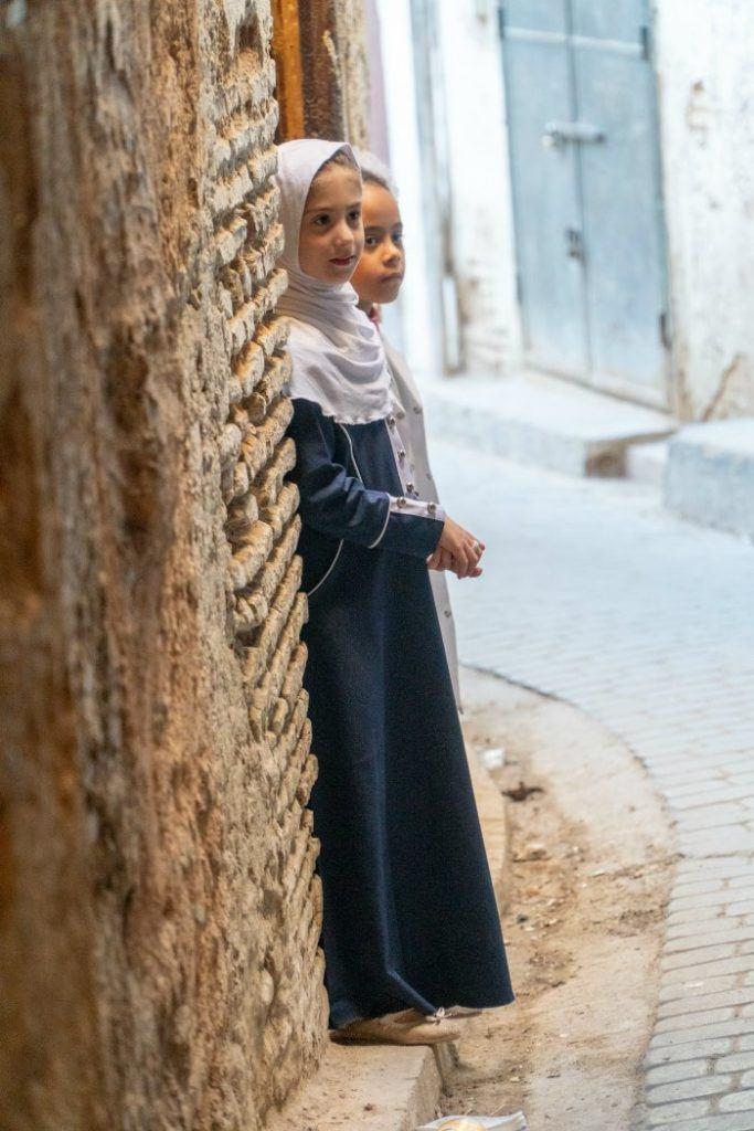 girls in the Fes medina