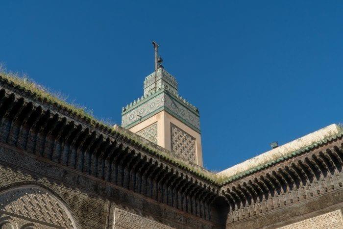 Minaret at Bou Inania Madrasa