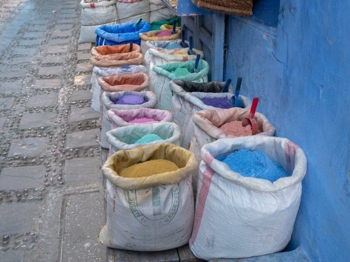 Dyes in bags