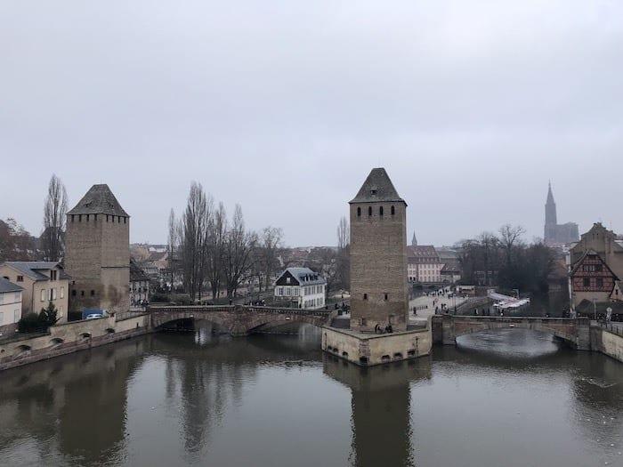 View from Barrage Vauban in Strasbourg