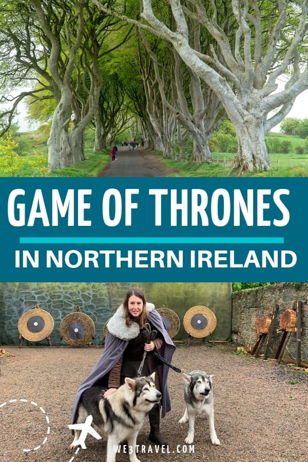 Game of Thrones fans! You can't miss these filming locations and attractions in Northern Ireland from the Kings Road to Winterfell you can dress like a Stark and meet a dire wolf. #gameofthrones #northernireland #ireland #loveireland