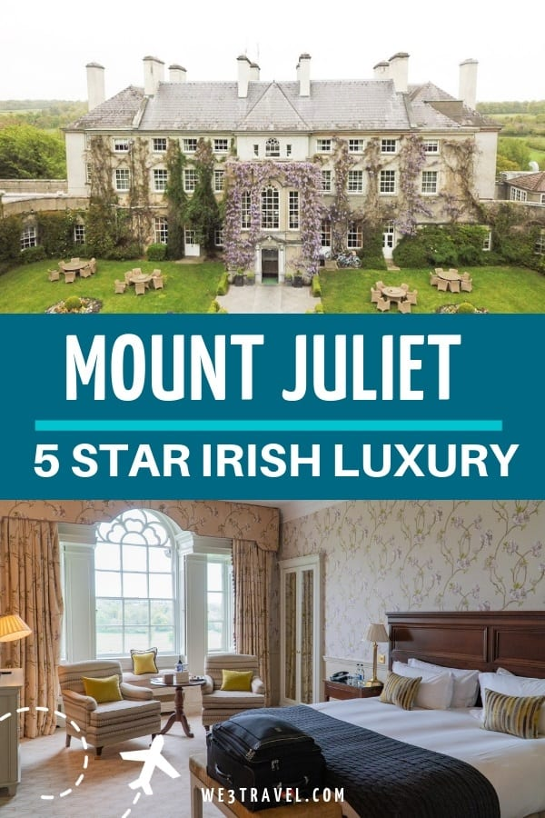 If you are looking for a castle stay or to stay at a country estate in Ireland, then put Mount Juliet Estate near Kilkenny on your list. This luxury hotel ticks all the boxes for family or couple travel. #ireland #luxuryhotel