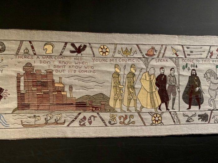 Game of Thrones tapestry scene