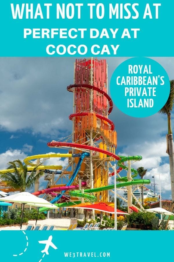Perfect Day at CocoCay, Royal Caribbean cruise line's newly renovated private island in the Bahamas is now open and it is incredible. Find out all the details about the Thrill Waterpark, Chill Island, and the experiences you just can't miss! #cruisetips #cruising #royalcaribbean #cococay #bahamas #caribbeancruise