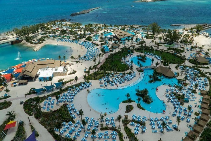 Perfect Day at CocoCay pool from above
