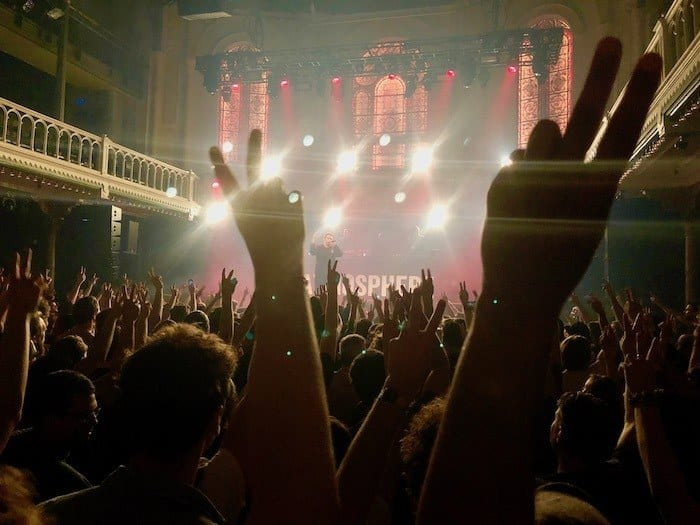 Rockin' out at the iconic Paradiso, a former church turned concert venue