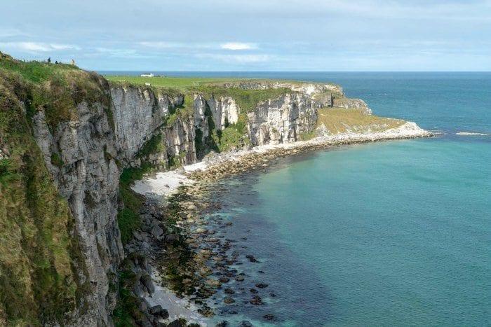 Carrick a rede cliffs Northern Ireland