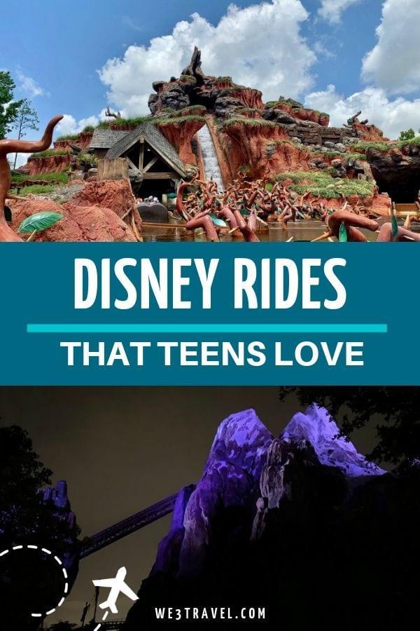 Best Disney Rides for teens
