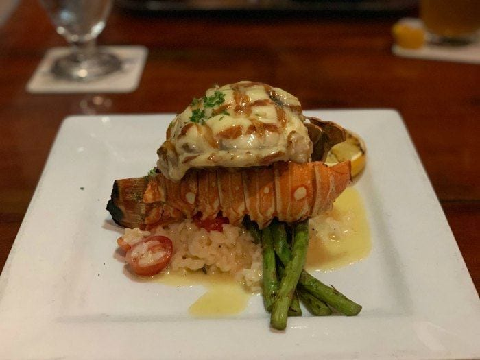 Caribbean lobster tail at First Flight in Key West