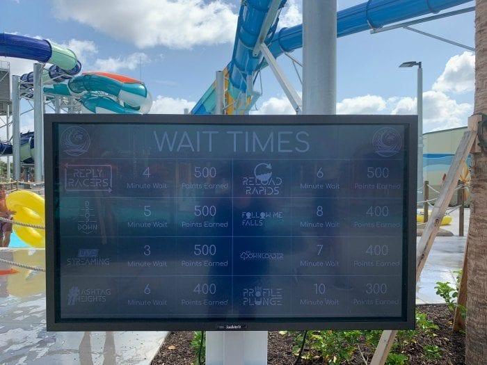 Waterpark wait times