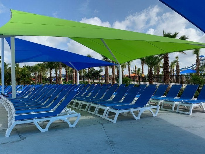 Island H20 Live chairs by wave pool