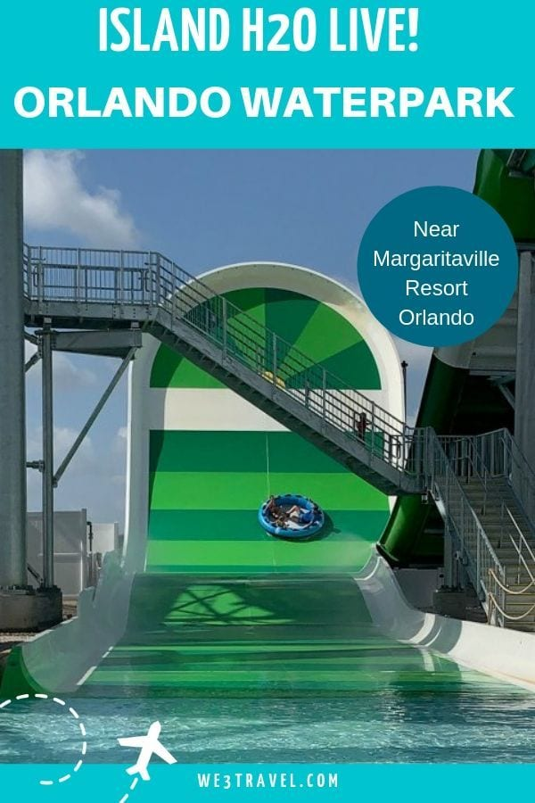 Island H20 Live Margaritaville water park in Kissimmee Florida near Orlando and Disney.