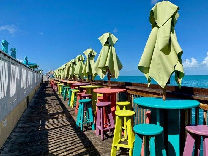 Sunset pier tables