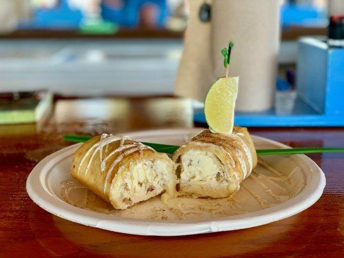 Burdine's fried key lime pie